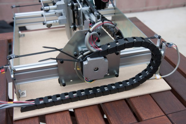 To get the wires to the moving parts, this cable chain is used.